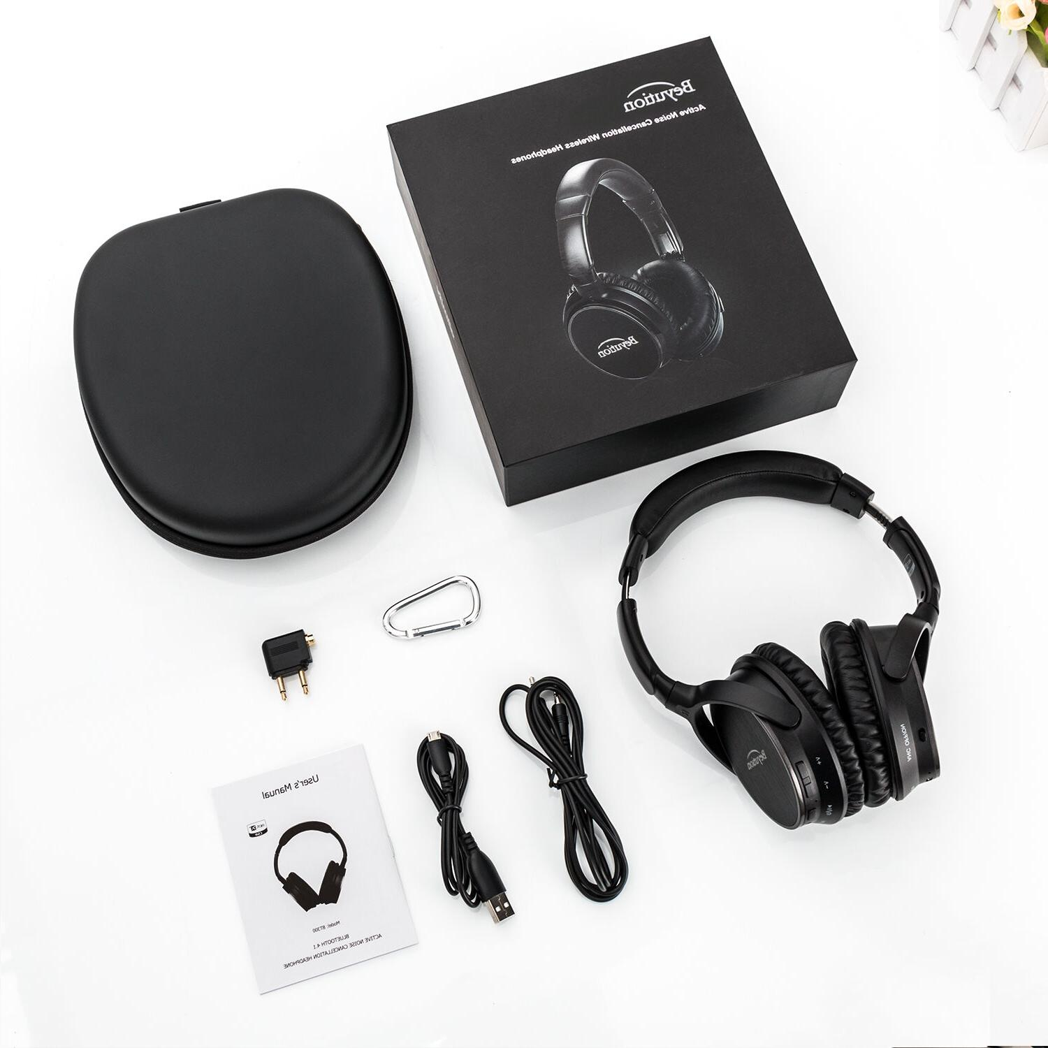 Active Noise Cancelling Wireless Bluetooth with