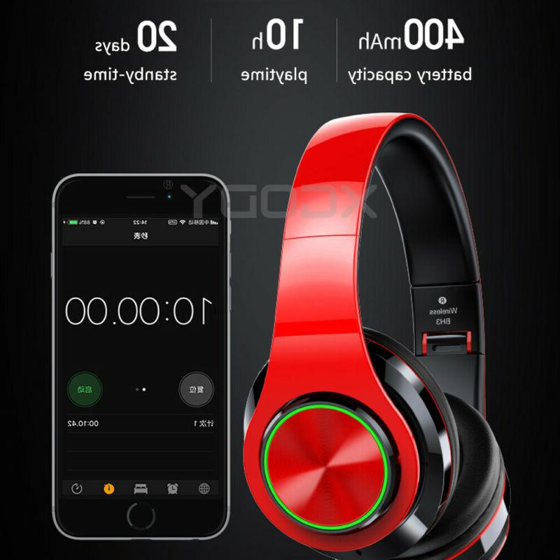 Bluetooth 5.0 Headphones Over-Ear Earphone Super Bass