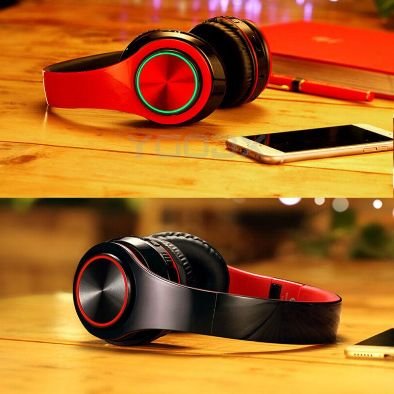 Bluetooth 5.0 Headphones Wireless Over-Ear Earphone Super Headset