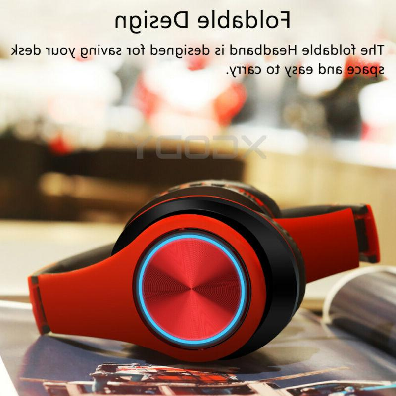 Bluetooth 5.0 Over-Ear Super Bass Headset