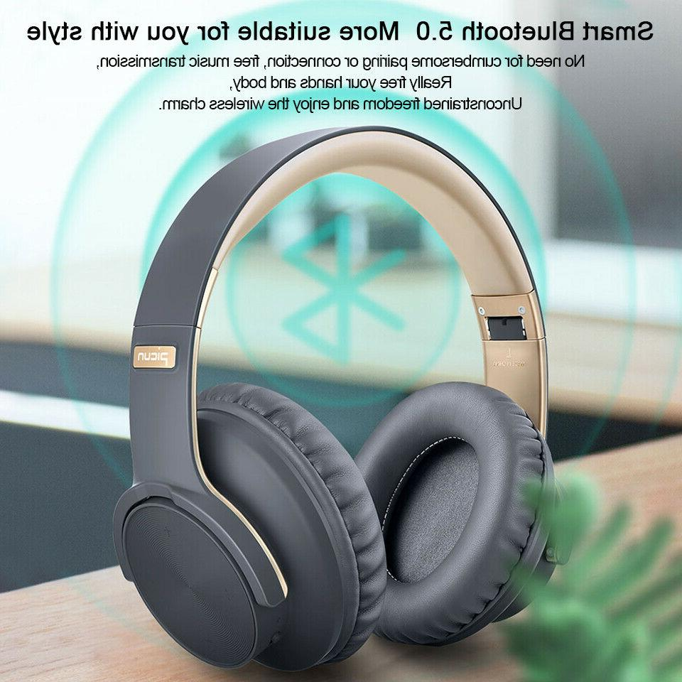 Picun  Wireless Bluetooth Headphone Touch Earphone Over Ear