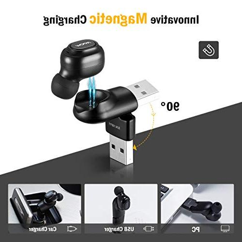 Mpow Bluetooth 6Hrs Wireless Earpieces, Invisible Earbuds, HD Mini Bluetooth with USB Cordless Car Bluetooth Phone