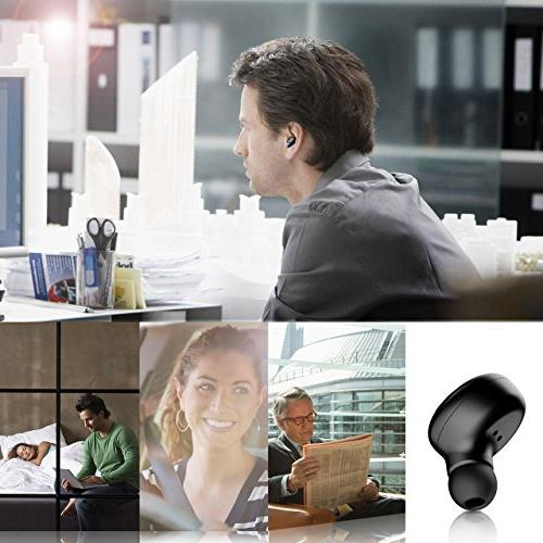 Mpow 6-Hrs Playtime Earbud, Mini Bluetooth Microphone, Headset