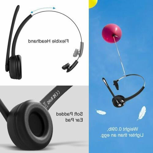 Mpow Bluetooth Headphone Wireless Driver Truck Noise Cancelling