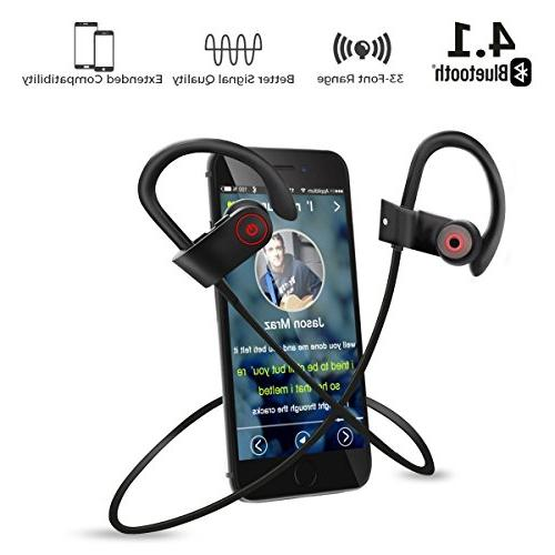 Laifeo Bluetooth Headphones, Wireless IPX7 Waterproof Stereo Sweatproof for Gym Running Battery Cancelling