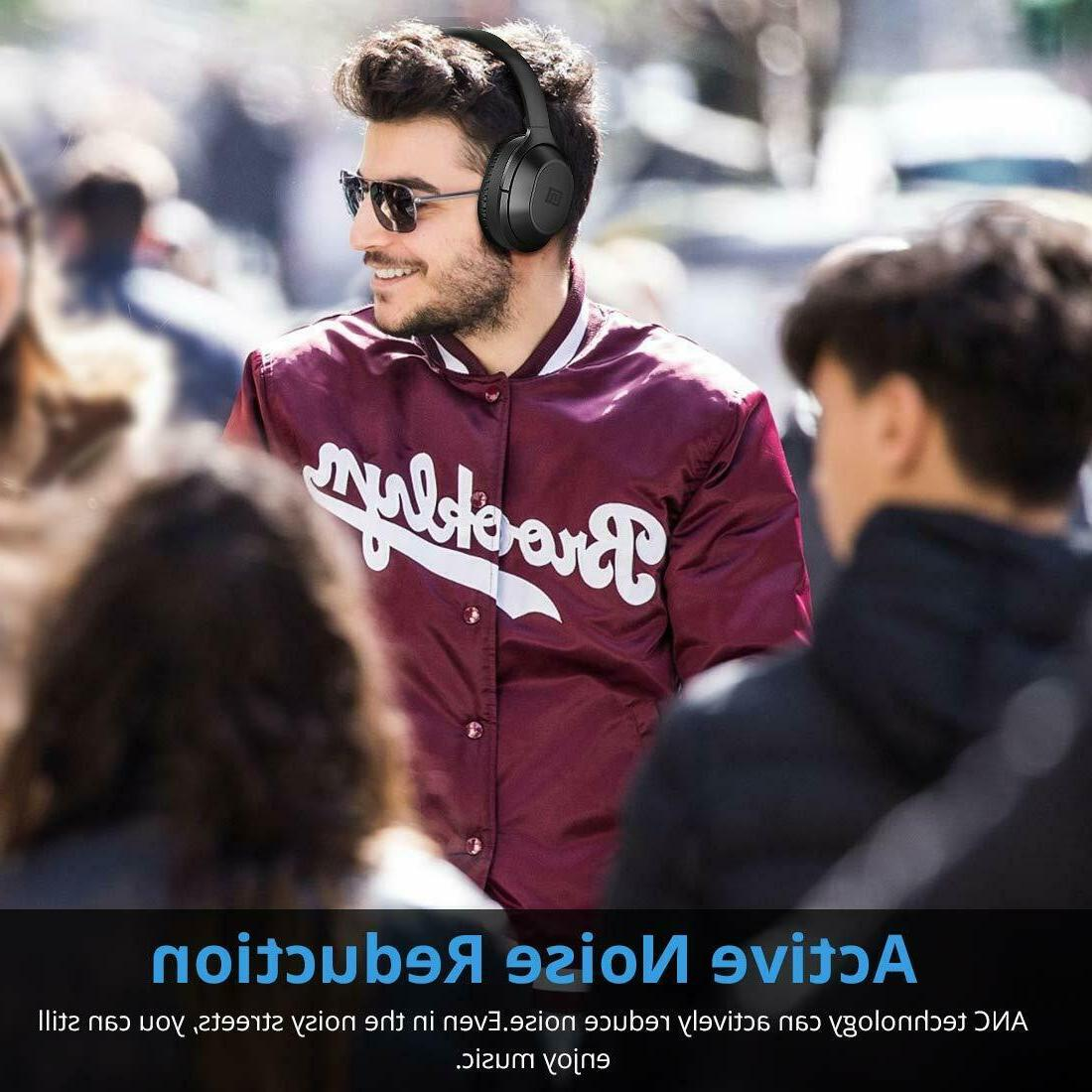 Langsdom Bluetooth Noise Cancelling Headphones with