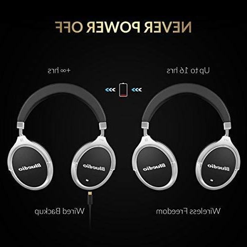 Bluetooth Headphones Active Cancelling, Over 180° Rotation,Wired and Headphones for - Black