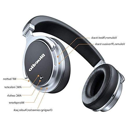 Bluetooth Headphones Active Cancelling, ANC Over 180° Rotation,Wired Headphones Cell -