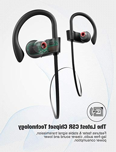 Otium Wireless Headphones, Headphones, Sports IPX7 for Running Hours Cancelling Headsets
