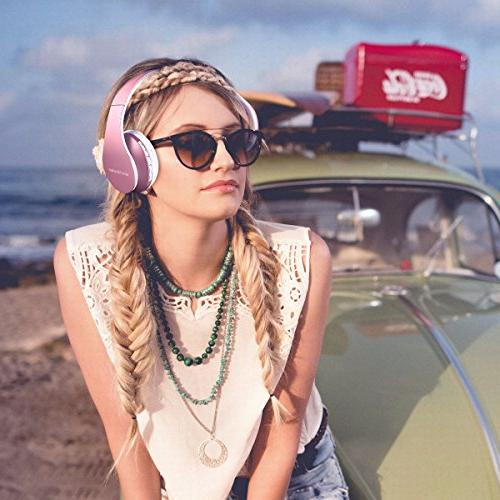 WorWoder Headphones Ear, Wireless Stereo and Headphones 4 in with Support Card for Cell Phones