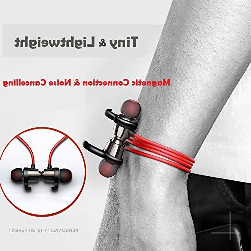 Bluetooth Magnetic Headphones Noise Cancellation wireless Water