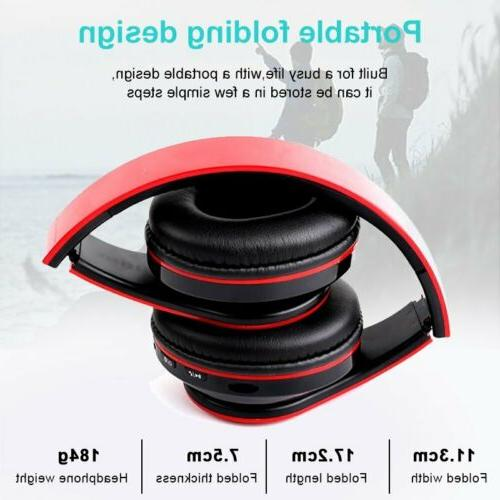 Foldable Wireless Headphones Noise Bass