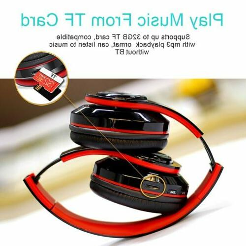 Foldable Wireless Bluetooth Headphones Noise Cancelling Bass Headset