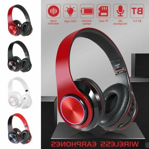 foldable wireless bluetooth 5 0 headphones noise