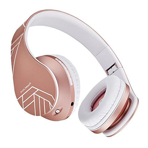 Powerlocus Bluetooth Over Ear Headphones Wireless Stereo Foldable Headphones