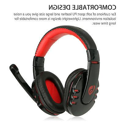 Bluetooth Gaming Headset for Xbox PC PS4 With Mic Control