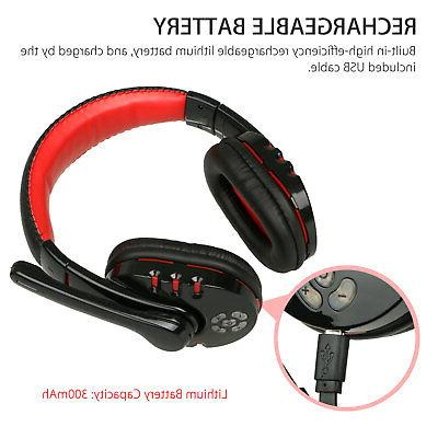 Bluetooth Headset for Xbox PC PS4 With Volume Control