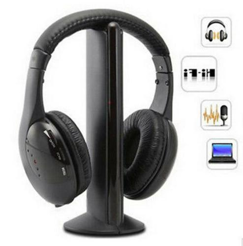 bluetooth wireless tv headset 5in1 mp3 pc