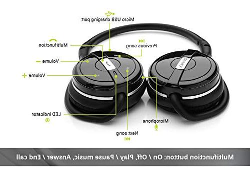 Kinivo BTH240 Stereo Headphone - Supports Music Streaming calling