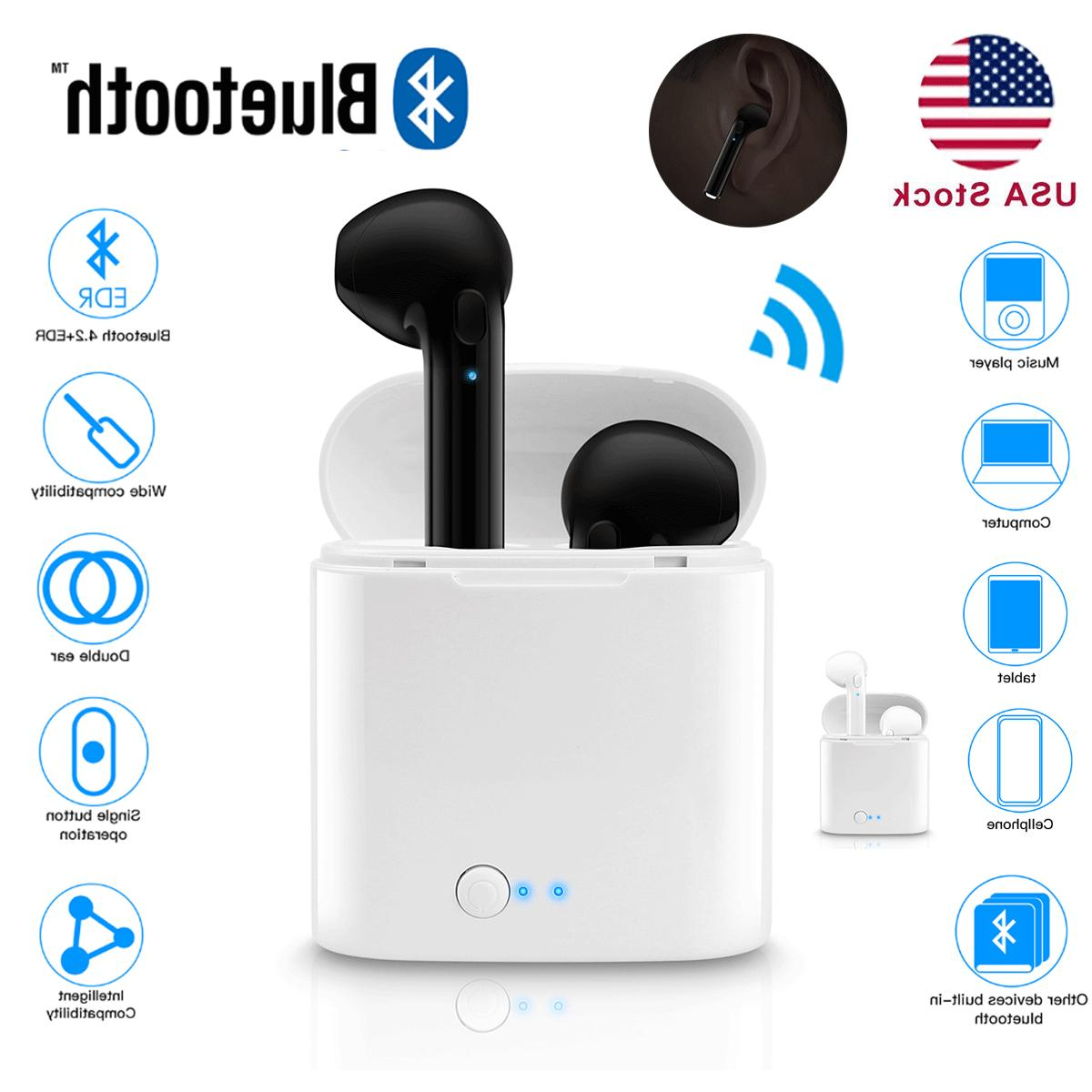 dual wireless bluetooth earphone earbuds for apple