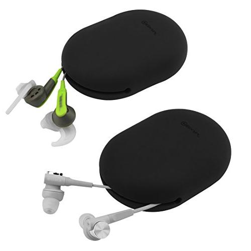 for Jaybird X3, X2, BlueBuds SoundSport, Earbud Squeeze Soft Earphone Storage