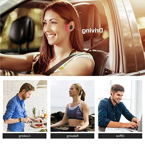 Mpow EM8 Single Earbud, Mini Earbud Volume Track Button, Invisible for and Android Smart Phones