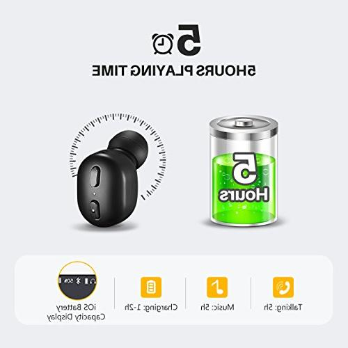 Mpow EM8 Single Wireless Earbud, Earbud & Track Control Button, Car Headset with for iPhone and Smart Phones
