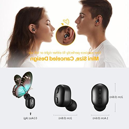 Mpow Earbud, V4.1 Mini Earbud with Track Button, Invisible Car for iPhone