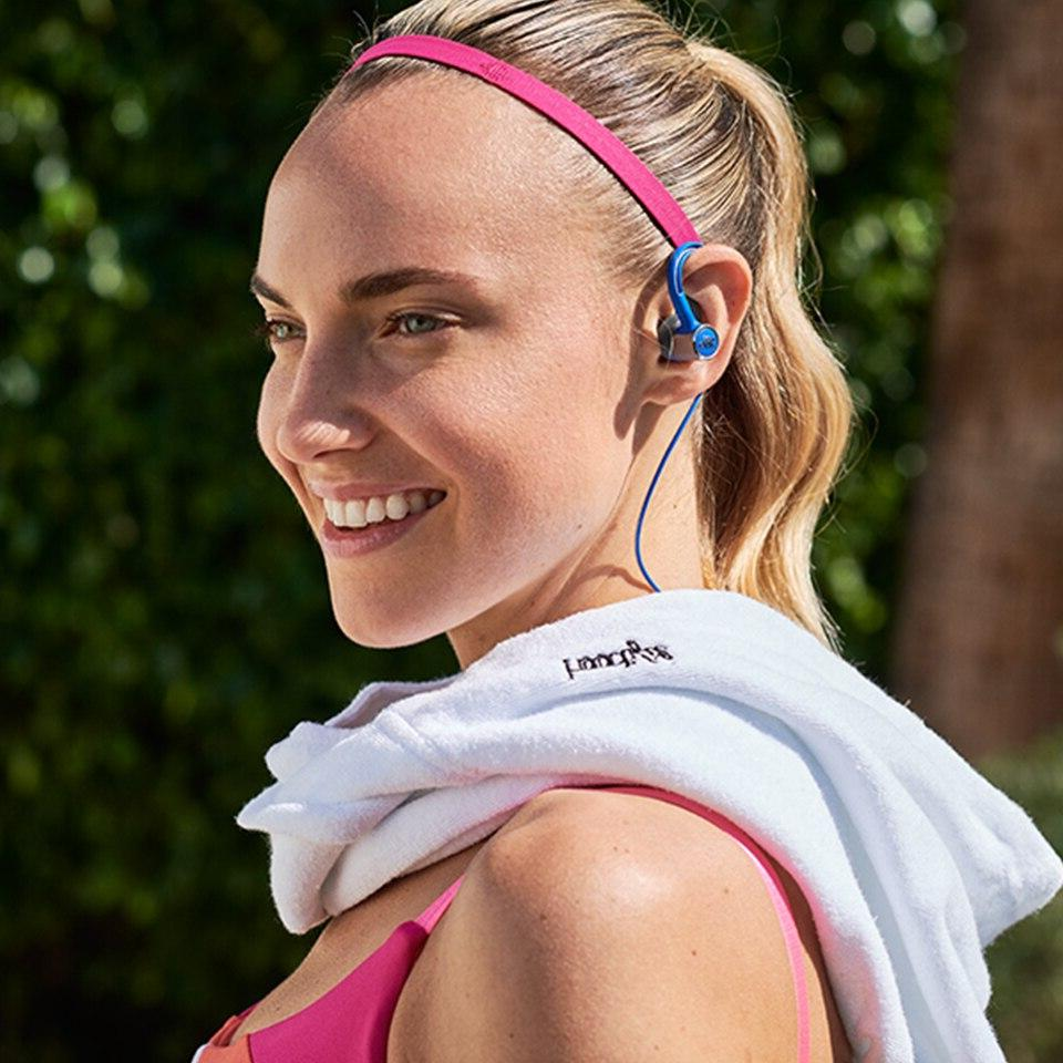 <font><b>JBL</b></font> Reflect <font><b>Wireless</b></font> Bluetooth 3-Button Mic IPX5 Gym Headset Bass Earphones