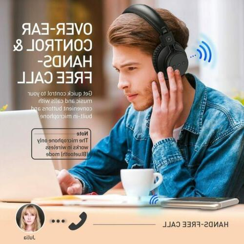 MPOW H1 Headphone Wireless/Wired Headset Foldable 20H