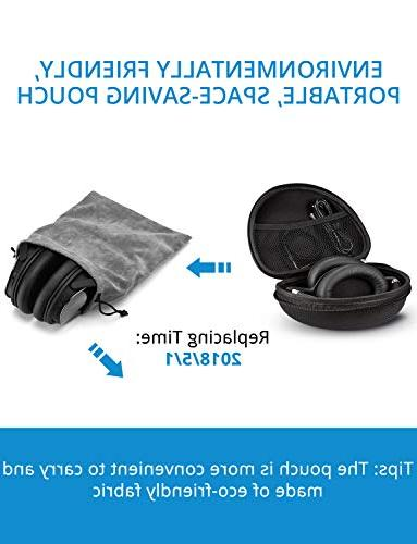 Mpow H5 Noise Cancelling ANC Ear Bluetooth w/Mic, 40 mm Drivers, Deep for