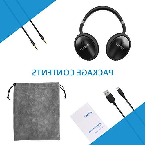 Mpow H5 Cancelling ANC Over Ear Wireless Bluetooth w/Mic, Dual Drivers, Superior Deep for