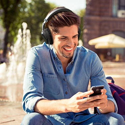 Mpow H5 Active Cancelling Superior Deep Bass Wireless Headphones w/Mic, 30Hrs Playtime Comfortable Earpads PC/Cell
