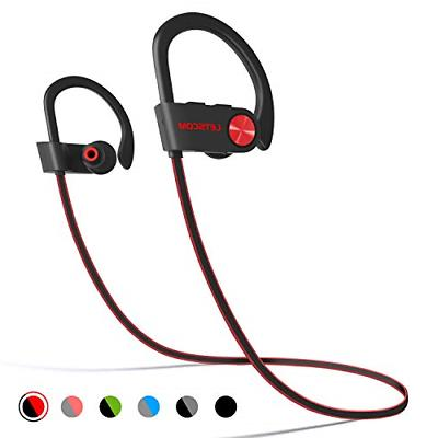 LETSCOM Bluetooth Headphones Waterproof, Bluetooth Stereo Sweatproof w/Mic, Noise Workout, Running, Gym, Hours