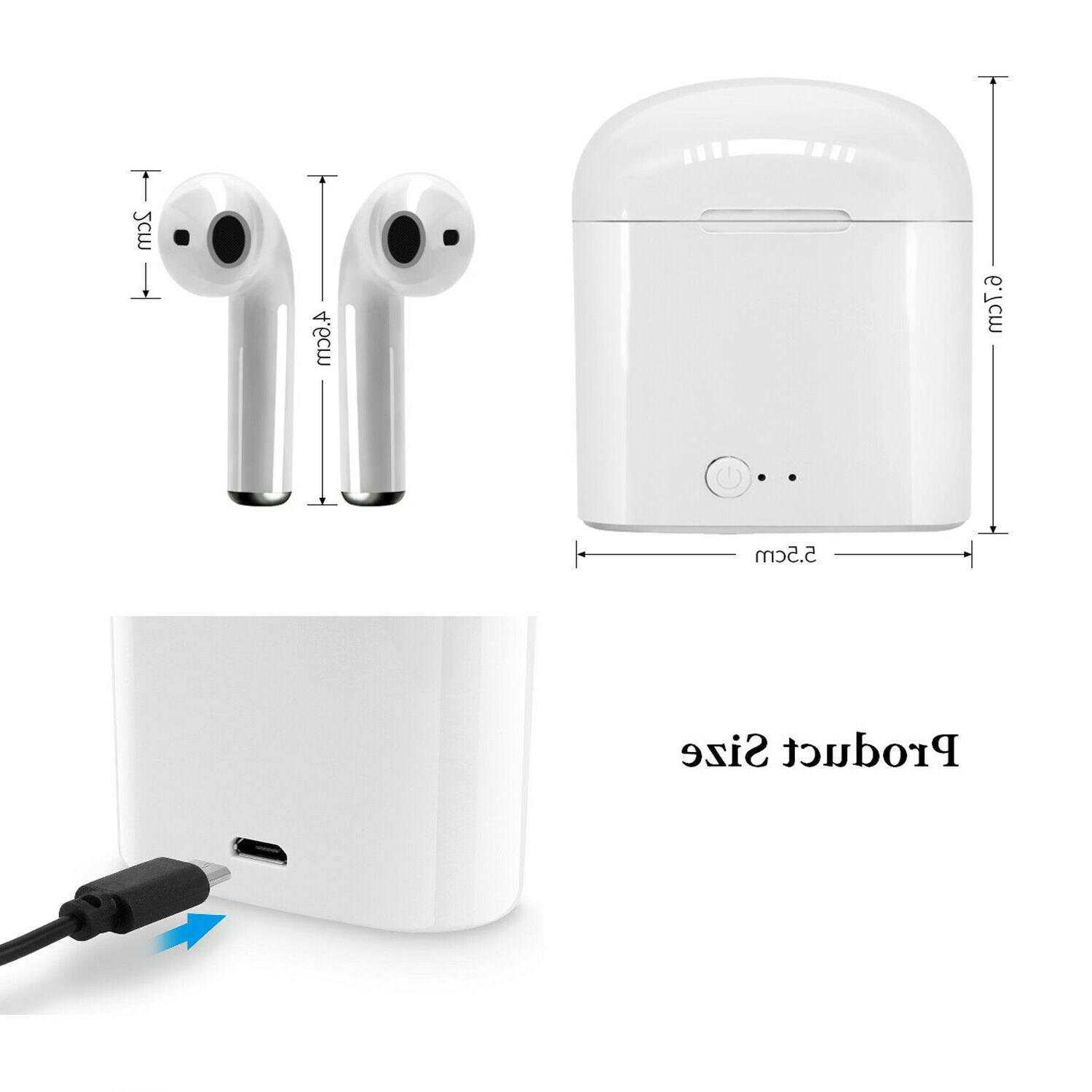 i7S Headphones Earphones Earbuds For iPhone Android