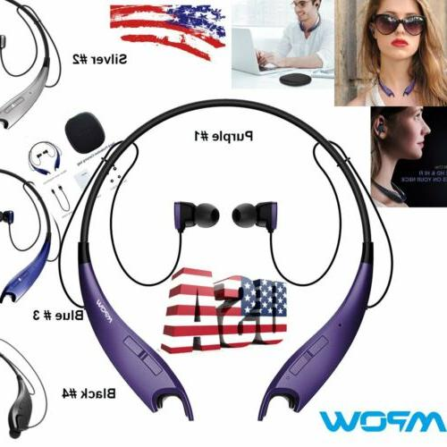 Mpow Jaws Bluetooth HiFi Stereo Headset Wireless Retractable