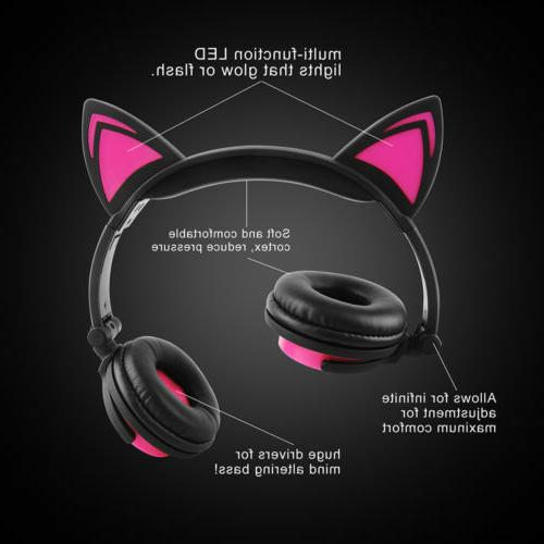 For Bluetooth LED Stereo headset US