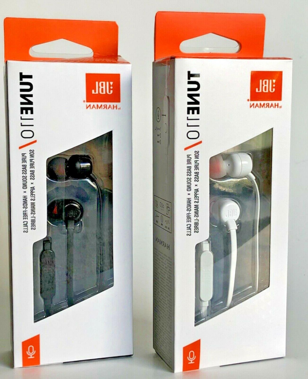 NEW JBL Wired Headphones Remote Control+ Black/White