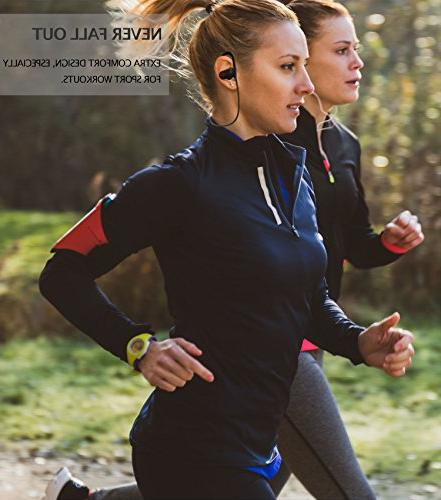 ONE The MX10 Bluetooth Headphones - Ear Buds Wireless Headphones - for Running Sport Workouts - Microphone IPX7