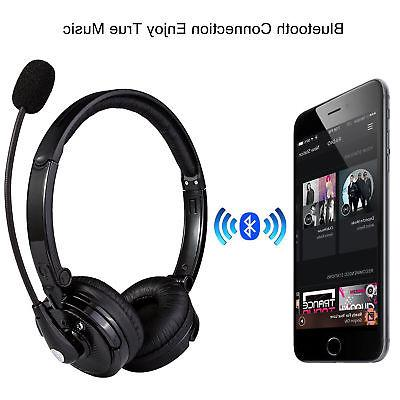 Over Stereo Wireless Gaming Headset With Boom