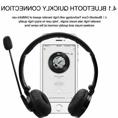 Over the Bluetooth Stereo Headphones Gaming Headset Mic