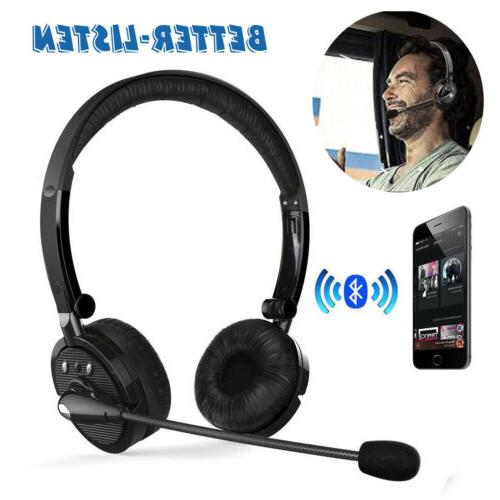 over the head bluetooth stereo wireless headphones