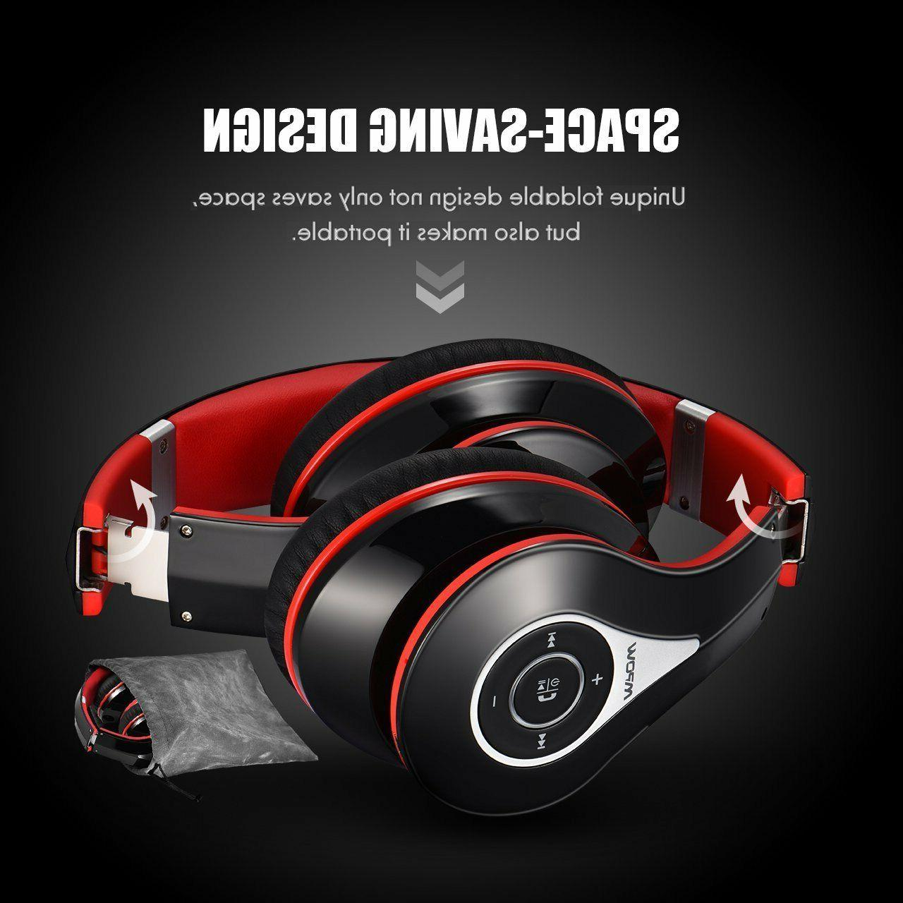 Mpow OverEar Wireless Bluetooth Earmuffs w/ Mic for PC/Cell/TV