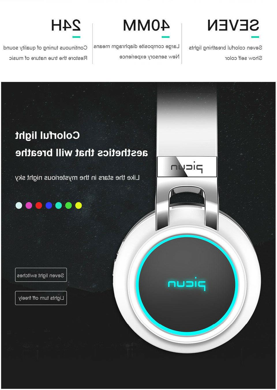 Picun P60 Headphones Wireless Stereo Super
