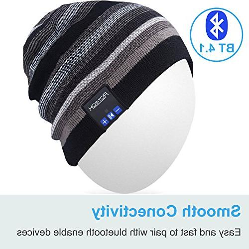 Mydeal Rechargeable Beanie Fashional Double Skully Wireless Stereo Earphone for Sports Hiking Christmas