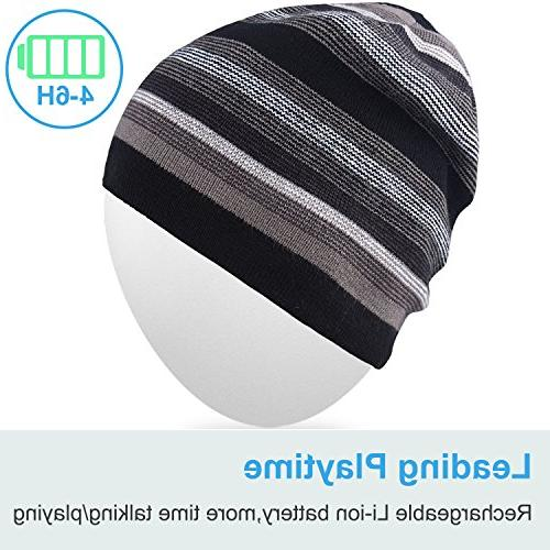 Mydeal Beanie Double Skully Cap Wireless Headphone Earphone Mic Sports Skating Hiking Christmas