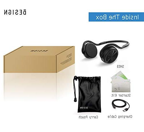 BESIGN SH03 Bluetooth Headphones, Sports for Wireless Streaming and Calling, to 25 Music time