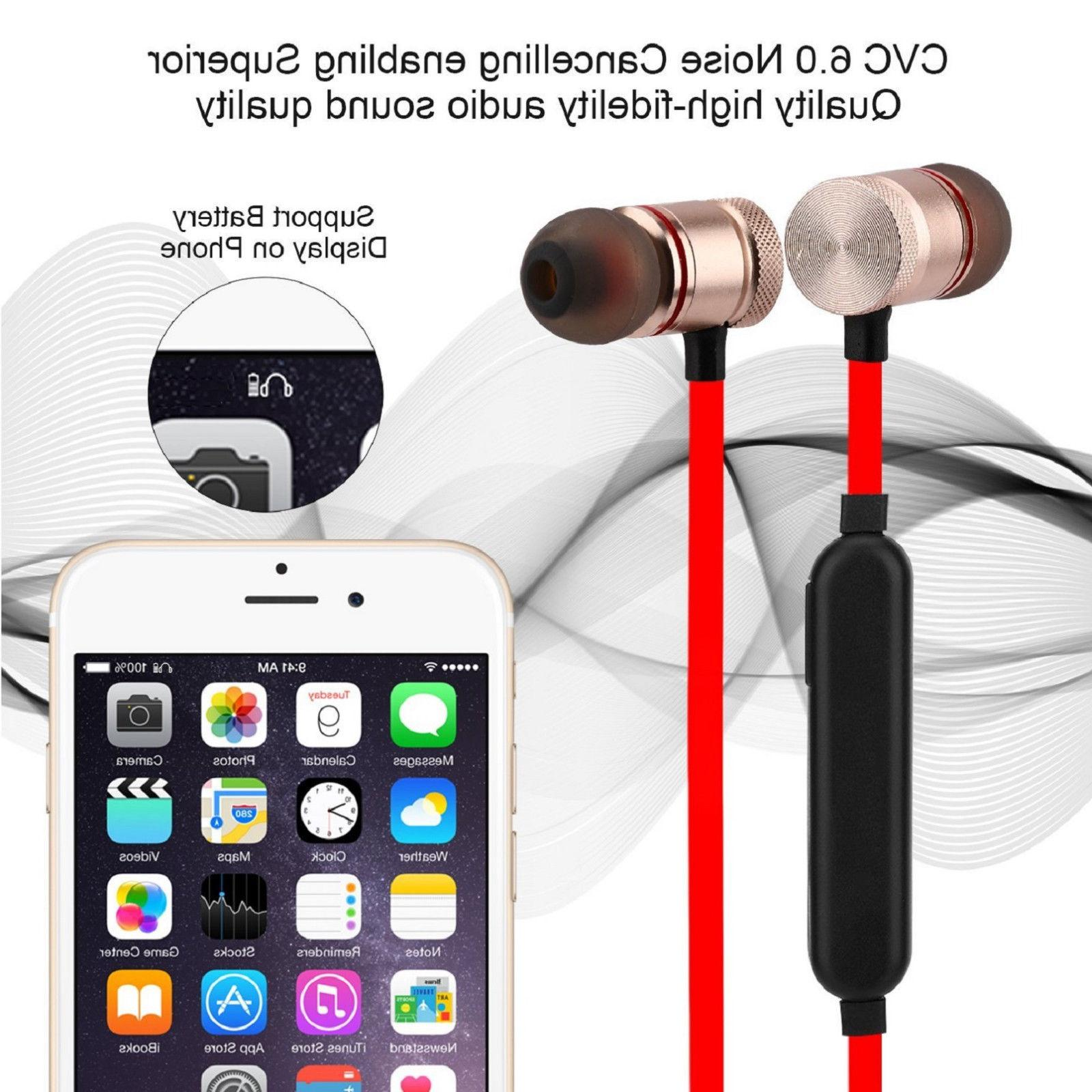 Sweatproof Wireless Headphones Headsets Earphones