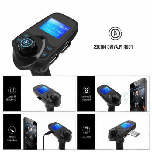 T11 Bluetooth FM Transmitter Car Wireless USB Charger Radio