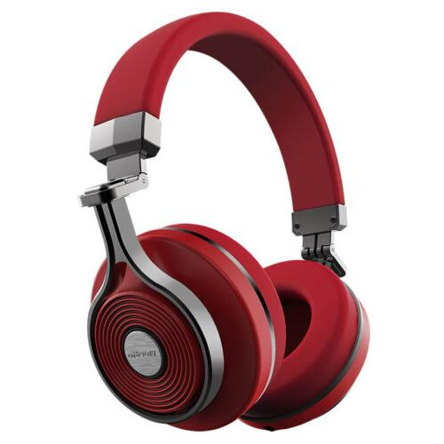Bluedio T3 Stereo Wireless Headphones Microphe Red